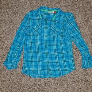 Girls blue/green flannel